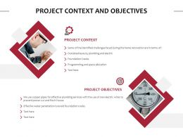 Project Context And Objectives Ppt Powerpoint Presentation Slides