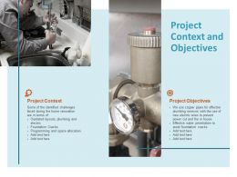 Project Context And Objectives Technology Ppt Powerpoint Presentation Professional Example