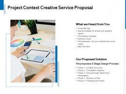 Project Context Creative Service Proposal Ppt Powerpoint Presentation File Template