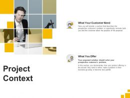 Project Context Customer Need Ppt Powerpoint Presentation Styles Background Image