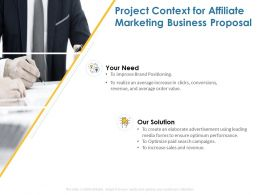 Project Context For Affiliate Marketing Business Proposal Ppt Powerpoint Presentation Styles
