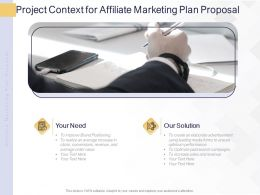 Project Context For Affiliate Marketing Plan Proposal Ppt Powerpoint Presentation Portfolio Slide