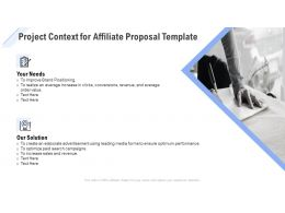 Project Context For Affiliate Proposal Template Ppt Powerpoint Slideshow