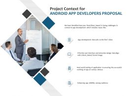 Project Context For Android App Developers Proposal Ppt Gallery
