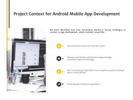 Project Context For Android Mobile App Development Communication Tehnology Ppt Powerpoint Presentation