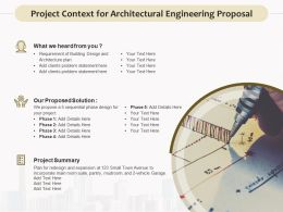 Project Context For Architectural Engineering Proposal Ppt Display