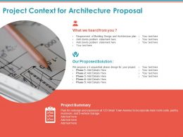 Project Context For Architecture Proposal Ppt Powerpoint Presentation Picture