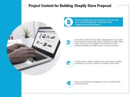 Project Context For Building Shopify Store Proposal Ppt Powerpoint Presentation