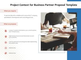 Project Context For Business Partner Proposal Template Ppt Powerpoint Presentation Pictures