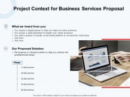Project Context For Business Services Proposal Ppt Powerpoint Presentation File