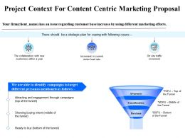 Project Context For Content Centric Marketing Proposal Ppt Powerpoint Presentation Themes