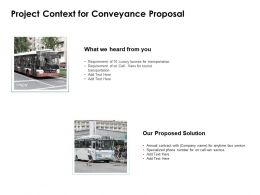 Project Context For Conveyance Proposal Ppt Powerpoint Presentation Samples