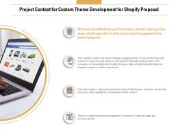 Project Context For Custom Theme Development For Shopify Proposal Ppt Styles