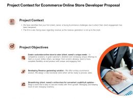 Project Context For Ecommerce Online Store Developer Proposal Ppt Powerpoint Presentation Infographic