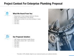 Project Context For Enterprise Plumbing Proposal Ppt Powerpoint Presentation Portfolio Layouts