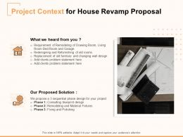 Project Context For House Revamp Proposal Ppt Powerpoint Presentation Infographic Template