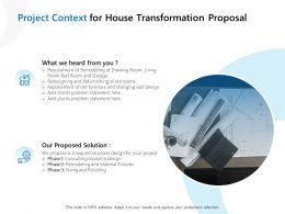 Project Context For House Transformation Proposal Ppt Powerpoint Summary Deck