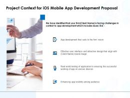 Project Context For IOS Mobile App Development Proposal Ppt File Structure