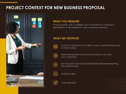Project Context For New Business Proposal Ppt File Example Topics