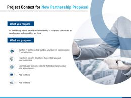 Project Context For New Partnership Proposal Ppt Powerpoint Presentation