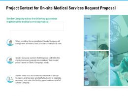 Project Context For On Site Medical Services Request Proposal Ppt Outline