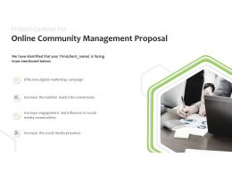 Project Context For Online Community Management Proposal Social Media Ppt Slides