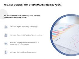 Project Context For Online Marketing Proposal Digital Marketing Ppt Powerpoint Slides