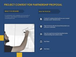 Project Context For Partnership Proposal Ppt Powerpoint Gridlines