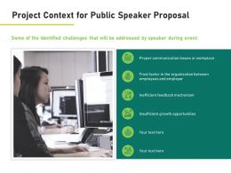 Project Context For Public Speaker Proposal Ppt Powerpoint Presentation Summary Icons