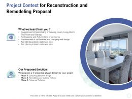 Project Context For Reconstruction And Remodeling Proposal Ppt Powerpoint Presentation Portfolio