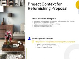 Project Context For Refurnishing Proposal Ppt Powerpoint Presentation