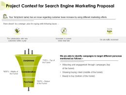 Project Context For Search Engine Marketing Proposal Ppt Powerpoint Presentation Slides