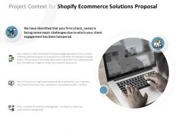 Project Context For Shopify Ecommerce Solutions Proposal Ppt Powerpoint Presentation Infographic