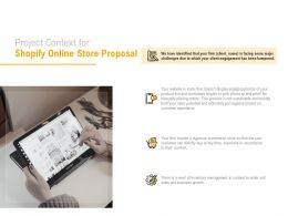 Project Context For Shopify Online Store Proposal Ppt Powerpoint Presentation Gallery Graphics Pictures