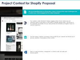 Project Context For Shopify Proposal Ppt Powerpoint Presentation Model Files