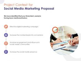 Project Context For Social Media Marketing Proposal Ppt Powerpoint Presentation Gallery