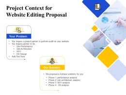 Project Context For Website Editing Proposal Ppt Powerpoint Presentation Pictures