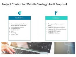 Project Context For Website Strategy Audit Proposal Ppt Powerpoint Presentation Styles Tips