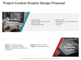 Project Context Graphic Design Proposal Ppt Powerpoint Presentation Ideas Backgrounds
