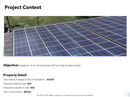 Project Context Installation Ppt Powerpoint Presentation File Example Topics