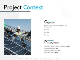 Project Context Management Ppt Powerpoint Presentation Ideas