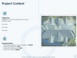 Project Context Objective Ppt Powerpoint Presentation Inspiration Images