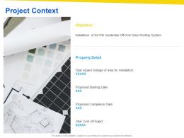 Project Context Objective Ppt Powerpoint Presentation Visual Aids