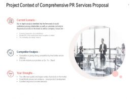 Project Context Of Comprehensive PR Services Proposal Ppt Slideshow