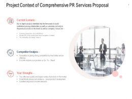 Project Context Of Comprehensive PR Services Proposal Ppt Slideshow