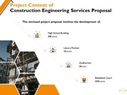 Project Context Of Construction Engineering Services Proposal Ppt Powerpoint Presentation Inspiration Images