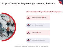 Project Context Of Engineering Consulting Proposal Ppt Powerpoint Presentation Model Inspiration