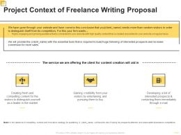 Project Context Of Freelance Writing Proposal Ppt Powerpoint Presentation Icon Example