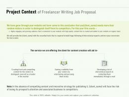 Project Context Of Freelancer Writing Job Proposal Ppt Powerpoint Presentation File