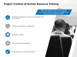 Project Context Of Human Resource Training Ppt Powerpoint Presentation Influencers